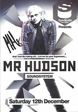 An 8 x 6 inch flyer for Mr Hudson at Syndicate Blackpool. Signed by Mr Hudson