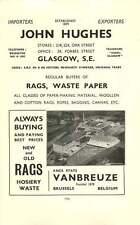1937 John Hughes Glasgow Rags Vanbreuze Scrap Ad