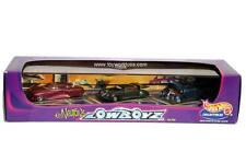 100% Hot Wheels 3-Car Ed Newton's Lowboyz Set Triclopz Rareflow & Mercohaulic