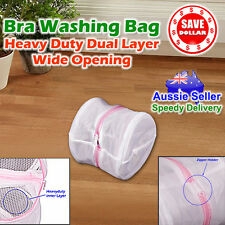 2x Washing Laundry Wash Bag Zipper Mesh Clothes Bra Delicate lingerie Underwear