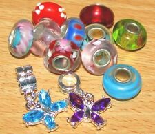 SET OF EUROPEAN CHARM BEADS MURANO GLASS MIX 1