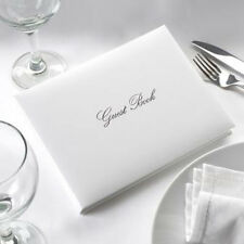 SILVER & WHITE Guest Book for Wedding Celebrations - Quality Boxed Party Book