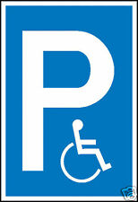 Parkplatzschild Symbol: P, Rollstuhlfahrer, Behinderten Parkplatz 41.5137