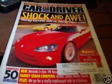 Car & Driver 12/2005 Corvette Z06 vs. Viper Coupe