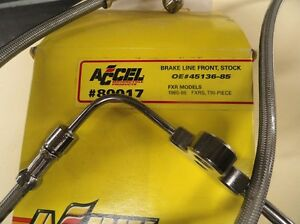 "FXRS-FXR ""NEW"" DUAL DISC FRONT BRAKE HOSE #45136-85 ACCEL #80017"