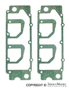 Two Valve Cover Gaskets (Silicone Coated), Lower, Porsche, 930.105.195.00, 68-89