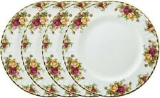 "ROYAL ALBERT OLD COUNTRY ROSES 4 x DINNER PLATES 27cm / 10.5"" - NEW/UNUSED"