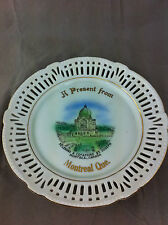 Montreal Quebec souvenier plate made in Germany porcelain plate