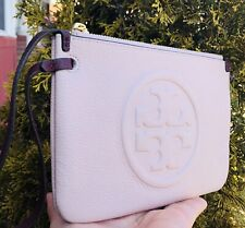 Tory Burch Perry Bombe Leather Wristlet Wallet Light Pink New Fits iPhone 11 Pro