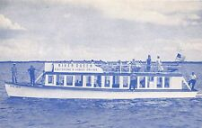 FORT MYERS FL SILVER QUEEN DIESEL DOUBLE DECK SIGHTSEEING BOAT POSTCARD
