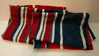 Dan River Striped Sham Set of 2-Striped Red White Gray Blue Pattern
