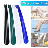 42cm Long Plastic Handle Shoe Horn Shoehorn Shoe Helper Easy Sturdy Slip Aid New