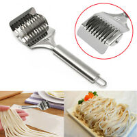 Stainless Steel Noodle Lattice Roller Docker Dough Cutter Pasta Spaghetti Maker