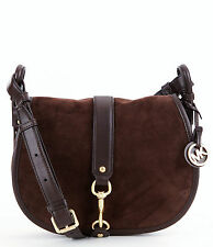 Michael Kors bolsa bandolera/Jamie MD Saddle Bag Coffee/marrón NUEVO