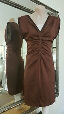 Ted Baker London dress.Sz0.XS.Fine cotton with stretchy x sheen.VGC