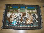 PRINT - WALL CARPET WITH 6 CAT IMAGES - 100X140 CM  good condition and solid