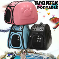 Portable Pet Dog Cat Travel Carry Carrier Tote Cage Bag Soft Crate Kennel Box AU