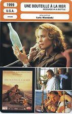 Movie Card Fiche Cinéma. Une bouteille à la mer / Message in a bottle (USA) 1999
