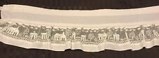 """Vintage Off White Lace Country Curtain Valance (1) 58 X 12"""" #L34"""