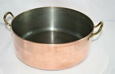 "Vintage ""Tagus"" Copper Pot-Made In Portugal-2 Qt/ W/ Lid-8"" Dia-3-7/8"" Deep"