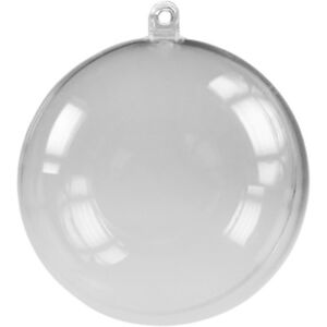 Kunststoffkugeln kristallklar 2 teilig 10 Stück