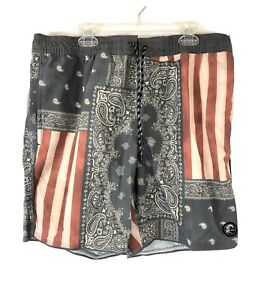 O'Neill, Men's Boardshorts, Size Medium, 30-32 Inch Waist, Red, White, Blue