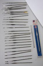 28 Vintage Steel Crochet Hooks Needles 00,0,3,4,6,7,8,9,10,11,12,13 Boye Susan..