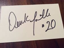 DEREK LOVILLE Signed/Auto 3x5 Index Card San Francisco 49ers OREGON In-person