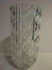 "Vintage Royal Doulton Crystal German Cut Glass Grand 10"" Vase"