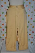 CHICOS  WOMENS 1.5 GOLDENROD YELLOW CAPRI  CROP PANTS EUC