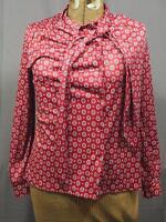 Vintage Bonne Petite Womens Polyester Shirt 1970's 1980's size 16