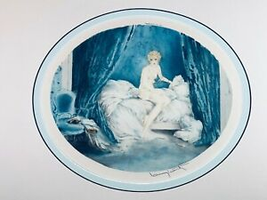 """Louis Icart 1929 """"Blue Alcove"""" Drypoint Etching"""