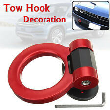 1pcs Fake Racing Tow Hook Ring Car Trailer SUV Front Rear Bumper Decoration Red