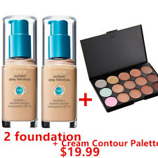 TWO Covergirl Outlast  3 in 1 Foundation 805 IVORY + Cream Contour Palette 15P