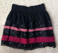 Dream Out Loud Junior's size M Black Sequined Lined Mini Skirt Selena Gomez