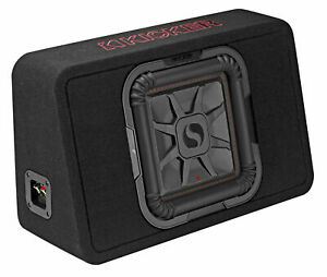 "KICKER 46TL7T102 L7T 10"" 500w Car Subwoofer Solo-Baric Sub in Slim Enclosure Box"