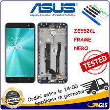 TOUCH SCREEN + LCD DISPLAY FRAME Per ASUS ZENFONE 3 ZE552KL Z012S Z012DE Nero