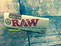 2 packs RAW Organic Hemp Natural Unrefined Rolling Papers 1 1/4