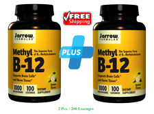 Jarrow Formulas Methyl Vitamin B-12 Lemon Flavor 1000 mcg, 200 Lozenges Vegan