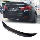 For Bmw F10 F18 525i 535i 550i M5 10-18 Carbon Fiber Rear Trunk Lip Spoiler Wing
