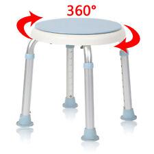 360° Drehbar Duschhocker Rund Duschstuhl Verstellbar Badhocker Badehocker 136 kg