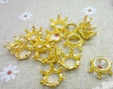 12pc Retro Gold Crown Bead Charms Accessories wholesale PJ1679