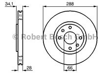Disco de freno (2 trozo) - Bosch 0 986 478 980