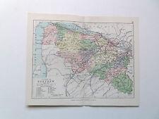 RENFREW- SCOTLAND-ANTIQUE  PHILIPS MAP 1890  APPROX 7inx 9in VGC    9in