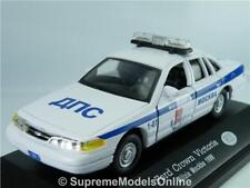 FORD CROWN VICTORIA MOCKBA RUSSIAN POLICE CAR 1/43RD WHITE/BLUE EXAMPLE T312Z(=)