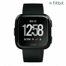NEW Fitbit Versa Smart Watch Fitness Activity Tracker Black with Sealed box