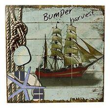 Wandbild maritim- Segelschiff- Holz- Shabby