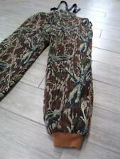 vintage COLUMBIA camouflauge OVERALLS hunting bibs pants LARGE (36 38) mossy oak