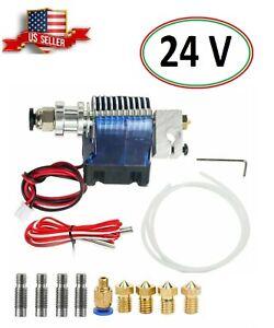 24V All Metal V6 J-Head Hotend Full Kit 5 Pcs E-3D Extruder Brass Print Head