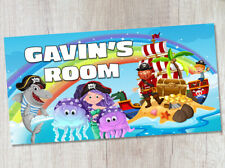Personalised Pirates Bedroom Door Name Sign or Plaque